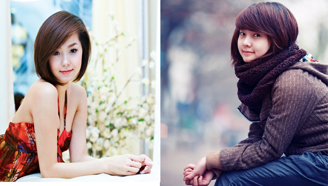 Cô nàng Trần Huyền Trang, sinh năm 1989, tốt nghiệp trường ĐH Mỹ thuật công nghiệp Hà Nội có gương mặt giống hệt nữ ca sĩ Minh Hằng.
