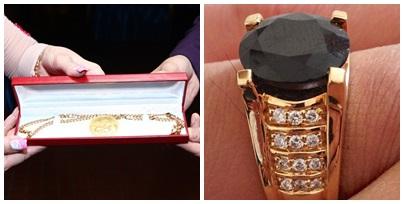 Sợi dây chuyền vàng 100 triệu và chiếc nhẫn ngàn đô của Vũ Hoàng Việt được người yêu tặng