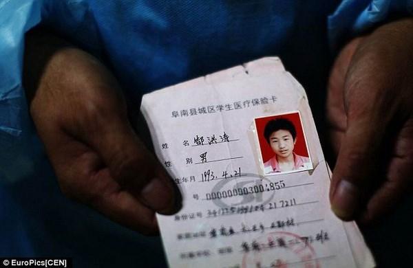 Thẻ học sinh của Hongtao.