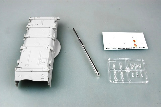 Bộ kit của T62 với nòng pháo bằng nhôm