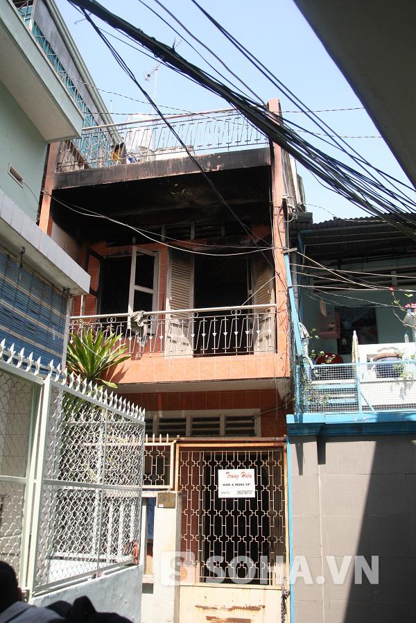 Căn nhà nơi xảy ra vụ hỏa hoạn