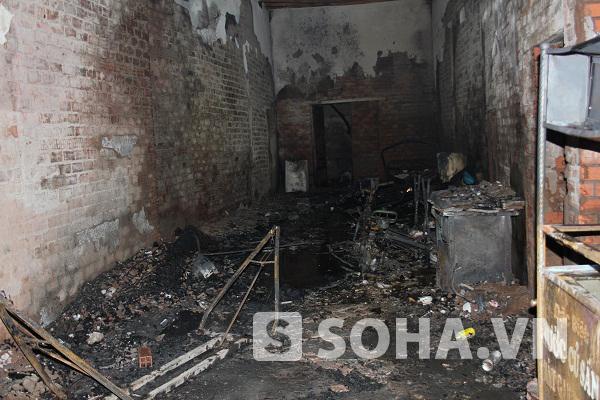 Nhà làm than đá, nơi xảy ra vụ hỏa hoạn làm 2 công nhân bị bỏng nặng