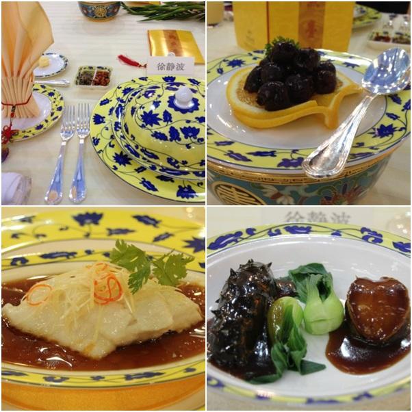 Một số món ăn được phục vụ tại Nhà khách Điếu Ngư Đài.