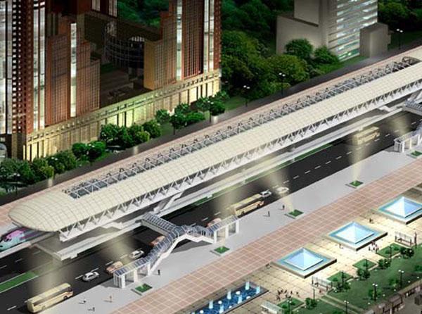 Mô hình dự án tuyến đường sắt đô thị số 1 đoạn Ngọc Hồi - Yên Viên.