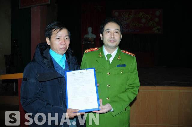 Buổi lễ công bố quyết định đình chỉ điều tra bị can với ông Nguyễn Thanh Chấn của Cơ quan Cảnh sát điều tra (Bộ Công an)