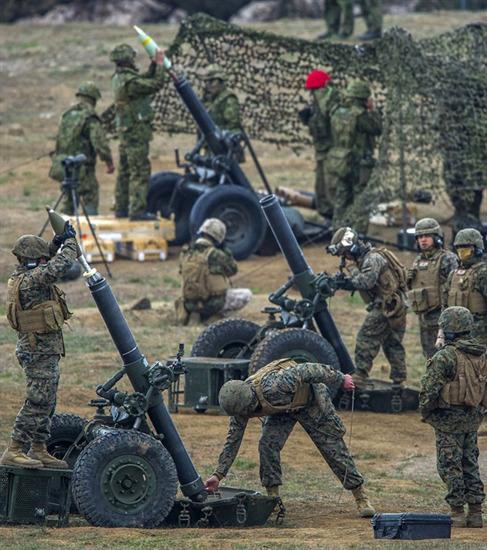 Bàn tay sắt là một cuộc tập trận đổ bộ, tập hợp Thủy quân lục chiến và thủy thủ từ các đơn vị viễn chinh 15 Marine, đơn vị MEF khác, và binh lính từ JGSDF.