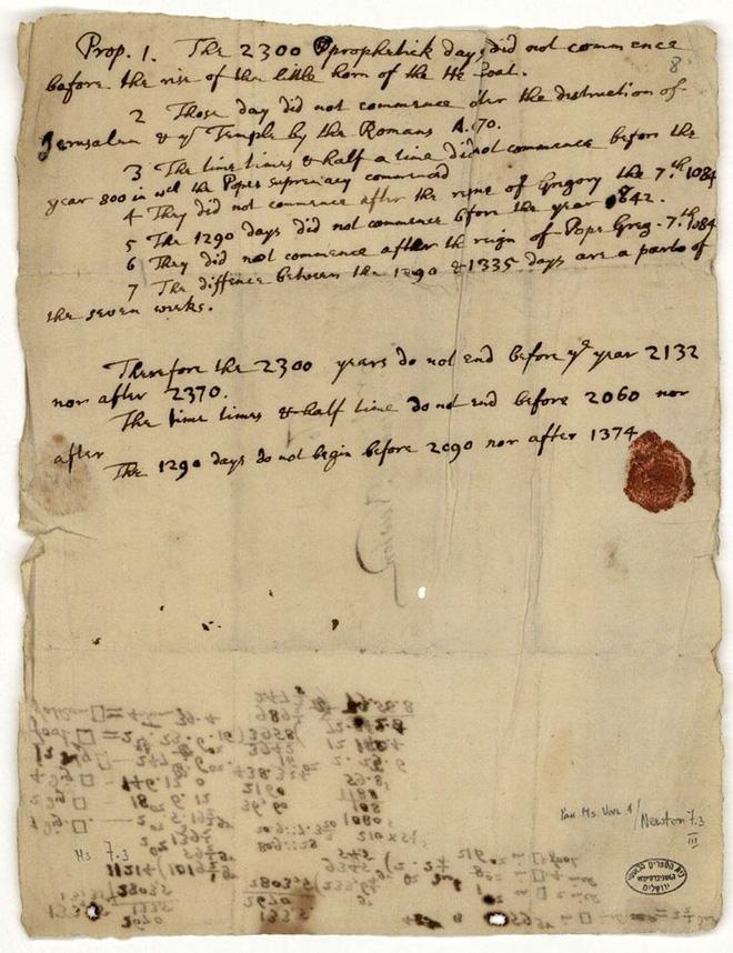 Isaac Newton và lời tiên tri đáng sợ về ngày tận thế sắp tới! - Ảnh 6.