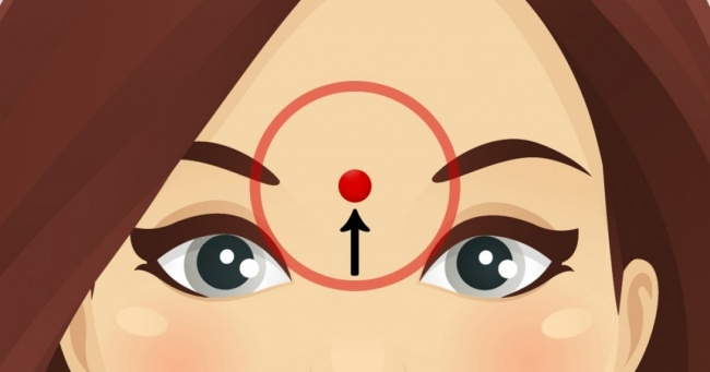 Nhấn mạnh vào vị trí này trên trán trong khoảng 60 giây, bạn sẽ thấy ngay tác dụng - Ảnh 1.
