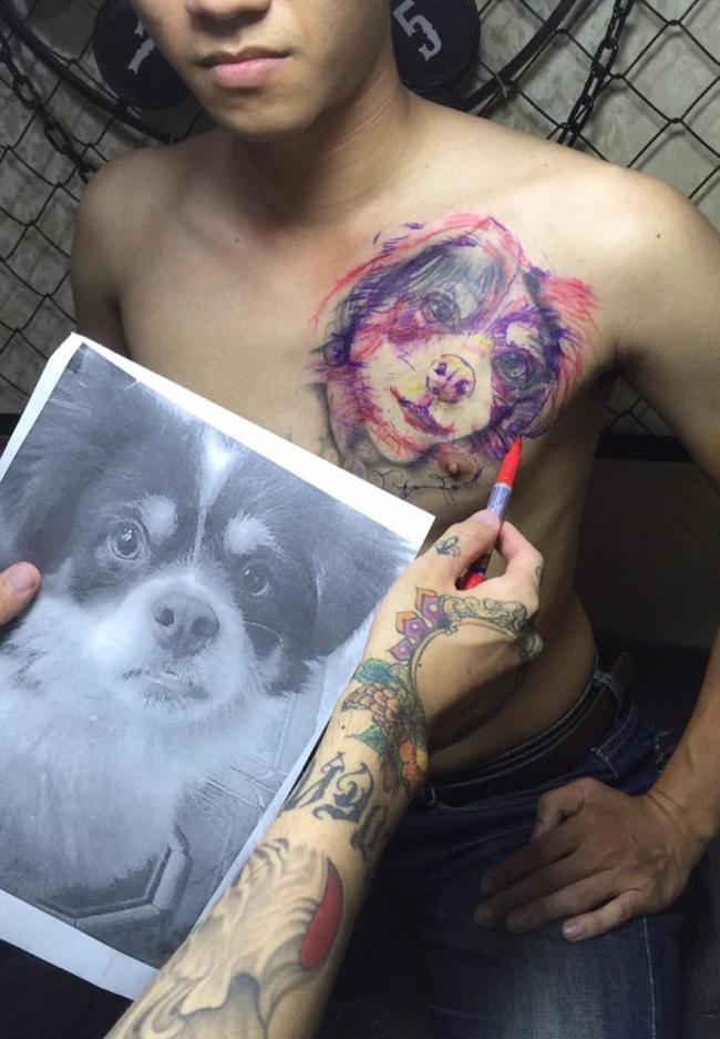 Đây là cách chàng trai xóa hình xăm chân dung bạn gái sau khi chia tay  - Ảnh 2.