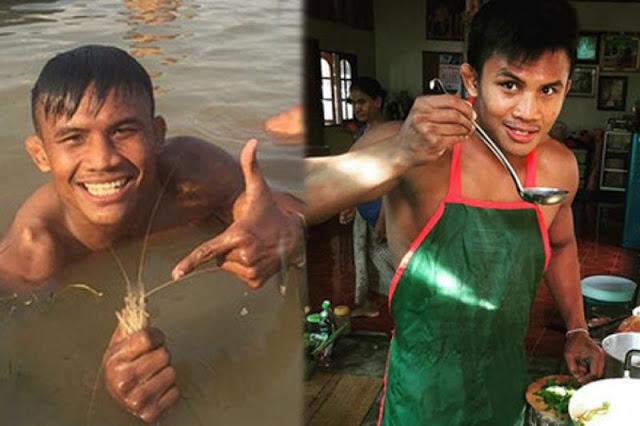Thánh Muay Thái đi mò tôm, bắt cá, sống như Tarzan tại VN - Ảnh 1.