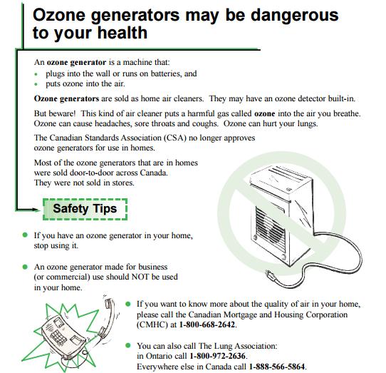 Canada khuyến cáo người dân dừng sử dụng máy tạo ozone tại nhà - Ảnh 1.