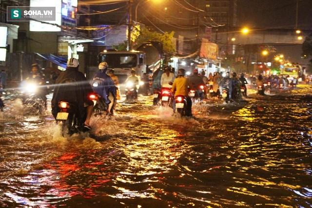 [ẢNH] Triều cường dâng cao, Sài Gòn biến thành biển nước - Ảnh 2.