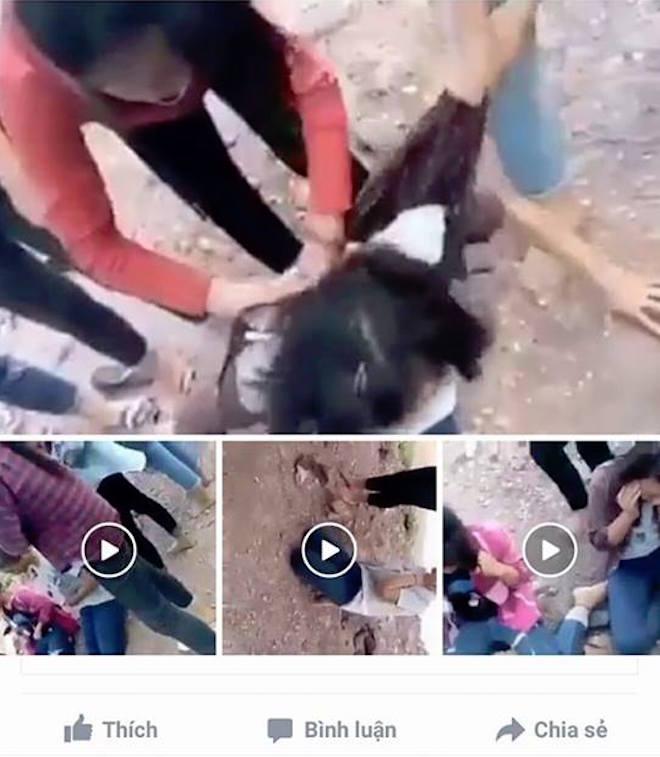 Bức xúc nhóm nữ sinh cấp 2 đánh 2 bạn gái tả tơi trên đường - Ảnh 2.
