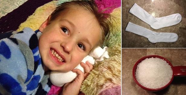 Muối + 1 chiếc tất: Trị hiệu quả viêm tai, nhiễm trùng tai cho trẻ - Ảnh 2.
