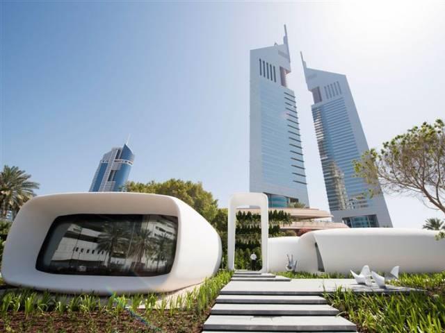 Dubai: Văn phòng in 3D đầu tiên trên thế giới, xây trong 17 ngày, giá bằng một nửa nhà thường - Ảnh 1.