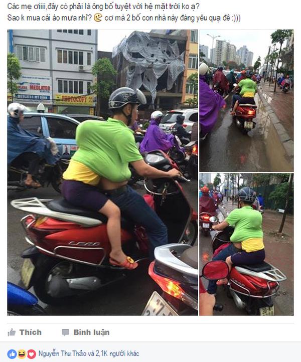 Chỉ cần tấm lưng vững chãi của cha, mưa gió đến đâu con gái nhỏ cũng thấy an toàn và ấm áp! - Ảnh 1.
