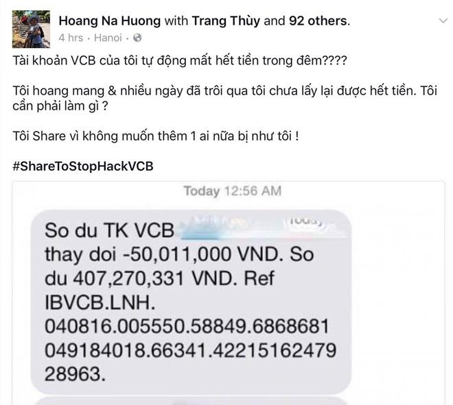 """Rúng động vụ 500 triệu trong thẻ Vietcombank """"bốc hơi"""" trong 1 đêm: """"Tôi hoang mang vì nhiều ngày qua chưa lấy lại hết tiền"""" - Ảnh 1."""