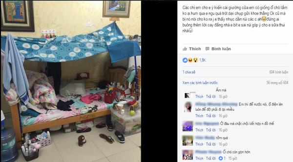 Mẹ trẻ bị dân tình góp gạch xây nhà vì lỡ đăng ảnh giường ngủ luộm thuộm như ổ chó - Ảnh 1.
