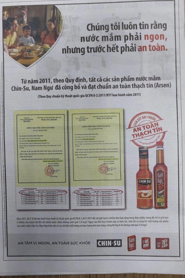 Nhanh bất ngờ, 2 thương hiệu nước mắm của Masan đã kịp tung quảng cáo không chứa thạch tín - Ảnh 1.