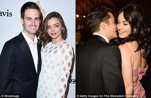 Miranda Kerr và hôn phu xem Orlando Bloom - Katy Perry như người một nhà - Ảnh 1.