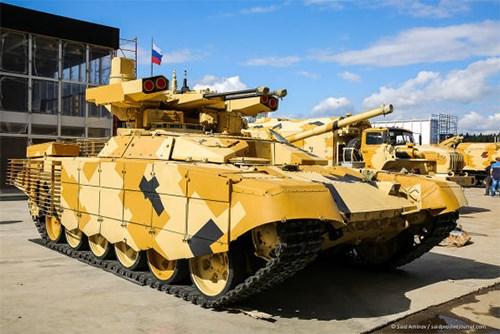 Nga trang bị pháo 57mm trên xe BMPT thế hệ mới - Ảnh 1.