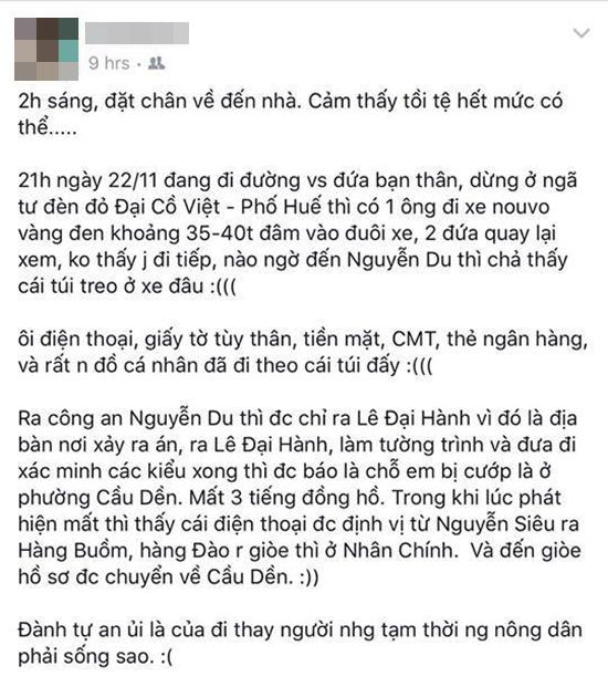 Hàng loạt chị em lo sợ trước thủ đoạn dàn cảnh đâm xe rồi cướp tài sản trên đường phố Hà Nội - Ảnh 2.