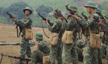 Chiến sĩ Tân Trào trên thao trường nắng gió - Ảnh 1.
