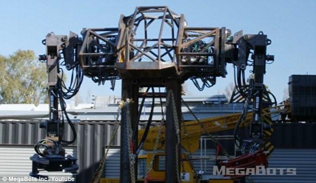 Robot Mỹ biểu trưng sức mạnh: nhấc xe ô tô lên cao rồi ném xuống đất vỡ vụn - Ảnh 3.