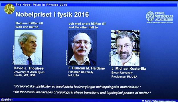 Giải Nobel Vật lý 2016 được trao cho ba nhà khoa học Anh đã mở ra những bí ẩn về vật chất lạ - Ảnh 3.