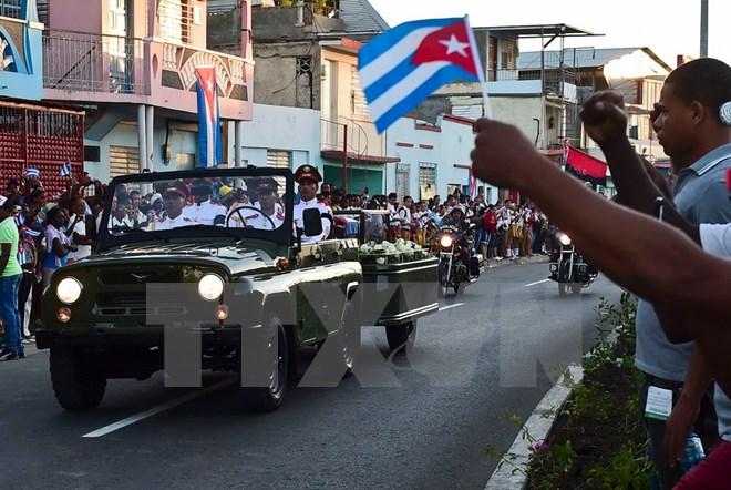 Hình ảnh lễ an táng tro cốt của lãnh tụ Cuba Fidel Castro Ruz  - Ảnh 5.