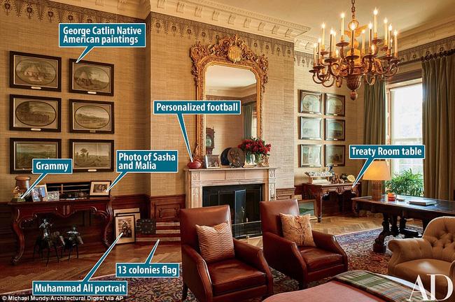 Có gì trong những căn phòng sinh hoạt của Tổng thống Obama và gia đình tại Nhà Trắng? - Ảnh 10.