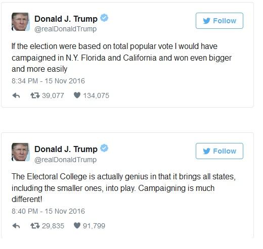 Hôm trước còn chê thậm tệ cơ chế Đại cử tri, hôm sau Trump đã ca ngợi là thiên tài  - Ảnh 1.