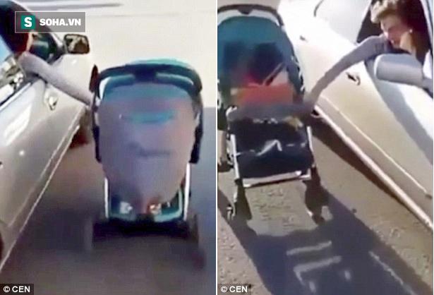 Đẩy xe nôi theo cách lạ, bà mẹ này bị dư luận chỉ trích nặng nề - Ảnh 2.