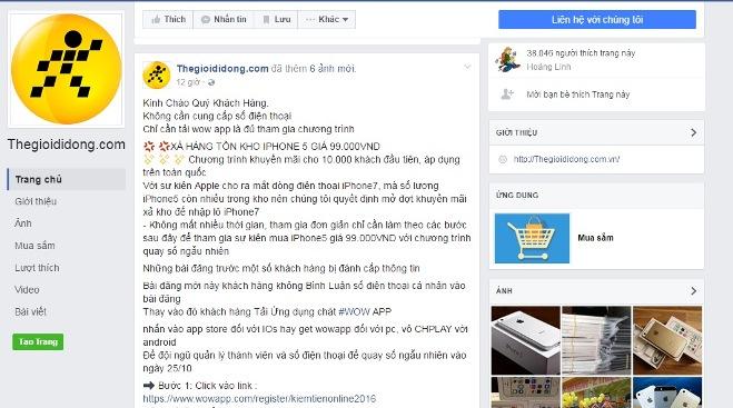 Thực hư việc Thegioididong bán 100 iPhone 5s giá chỉ 99.000 đồng - Ảnh 1.