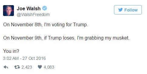 Cựu nghị sĩ Mỹ kêu gọi người dân cầm súng nếu Trump thua cuộc - Ảnh 1.