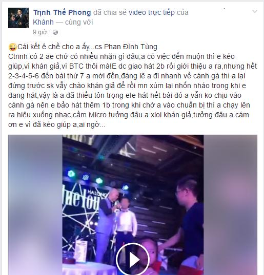 [Video] Phan Đinh Tùng đối xử thiếu tôn trọng với đàn em? - Ảnh 5.