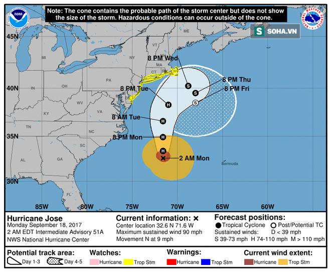 Nước Mỹ lại đứng ngồi không yên với 3 cơn bão mới, một trong chúng sẽ là siêu bão cấp 4 - Ảnh 1.