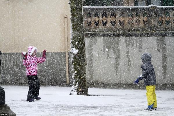 Những hình ảnh về đợt tuyết rơi dày nhất trong vòng 35 năm qua tại Tây Ban Nha - Ảnh 2.