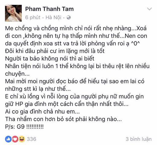 Mẹ chồng Tâm Tít khuyên con dâu xóa status khẩu chiến với Maya - Ảnh 1.