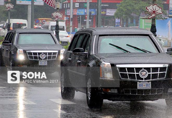 Dàn xe của tổng thống Trump hộ tống siêu xe Cadillac One The Beast xuất hiện trên phố Đà Nẵng - Ảnh 3.