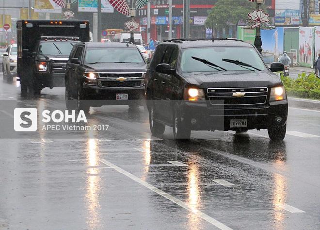 Dàn xe của tổng thống Trump hộ tống siêu xe Cadillac One The Beast xuất hiện trên phố Đà Nẵng - Ảnh 6.