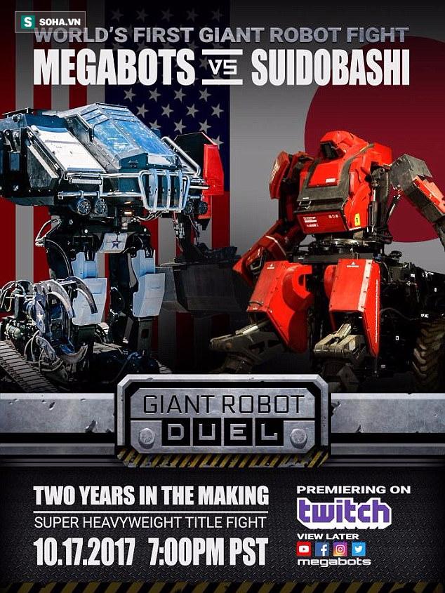 Nóng: Đại chiến robot có thật không phải trên phim, Mỹ hạ knock-out Nhật - Ảnh 1.