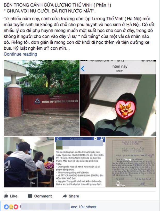 Cô giáo chủ nhiệm ở trường Lương Thế Vinh thấy sốc vì bị tố hà khắc, không có tình người - Ảnh 1.