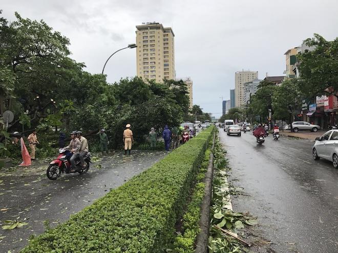 Nghệ An: Tan hoang sau bão, cây xanh bật gốc đè ô tô, người dân chặt cây tìm đường vào nhà - Ảnh 2.