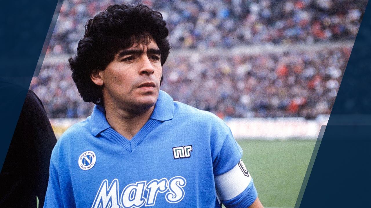 Maradona trong màu áo Napoli