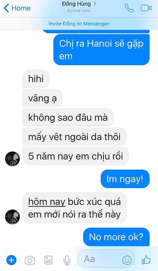 Đông Hùng nhắn tin với ca sĩ Pha Lê sau khi bị chủ nợ chém - Ảnh 2.