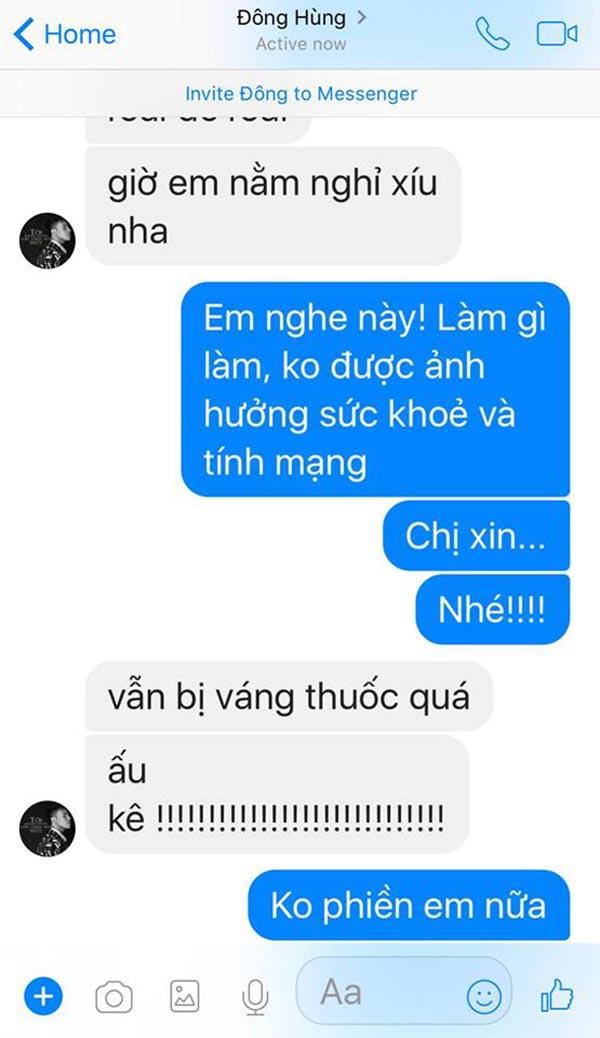 Đông Hùng nhắn tin với ca sĩ Pha Lê sau khi bị chủ nợ chém - Ảnh 3.