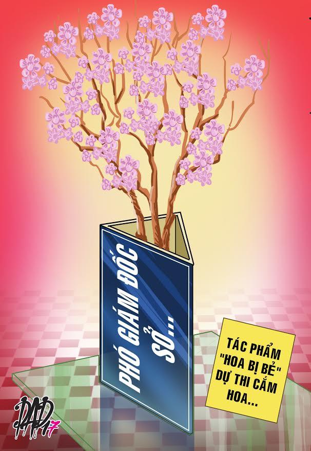 HÍ HỌA trong tuần: Chị Phó Giám đốc, chị thích hoa nào thì anh tài xế bẻ cho - Ảnh 4.