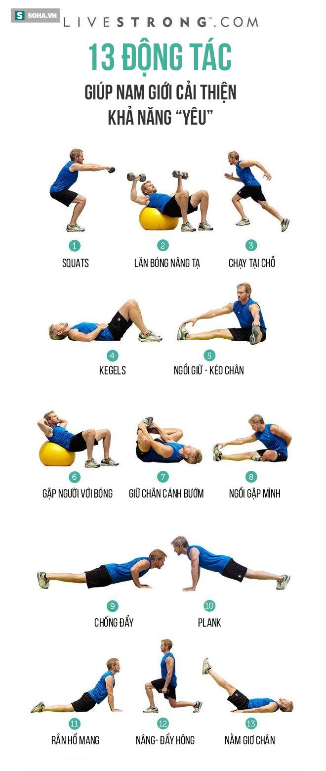 13 động tác thể dục giúp nam giới tăng cường sức bền, cải thiện khả năng yêu - Ảnh 1.