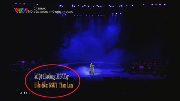 Phản ứng của Thanh Lam khi bị ghi nhầm tên là Tham Lam trên VTV - Ảnh 1.